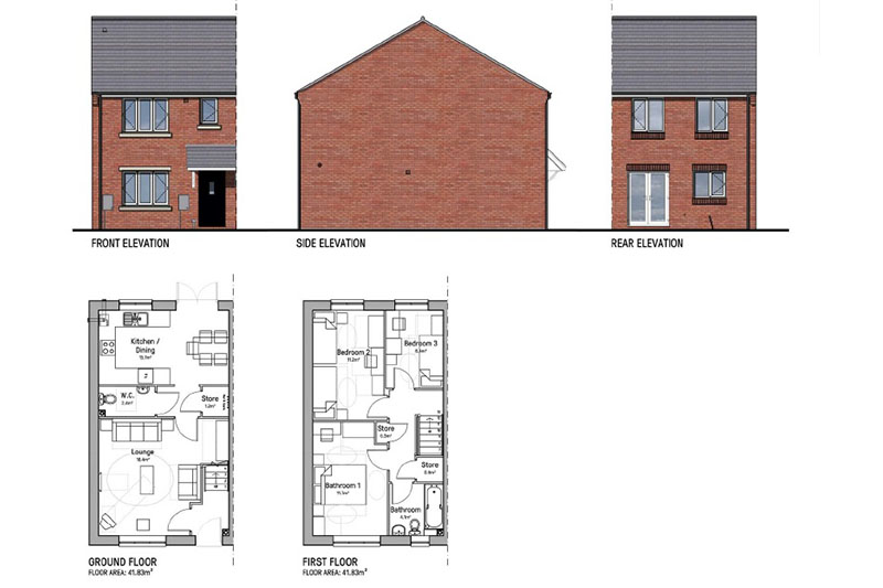 Shared ownership new build properties for sale in Reddings Lane, Tyseley, Birmingham. B11 3HB
